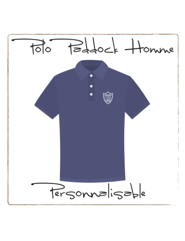 Polo Paddock Homme Personnalisable