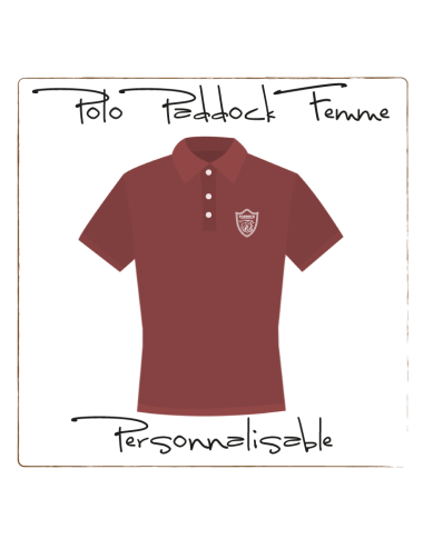 Customizable Paddock polo shirt  - Women