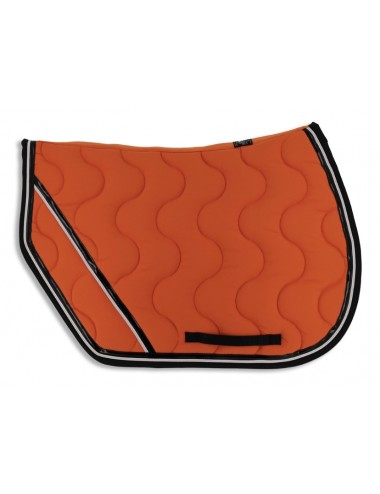 Sport Saddle Pad - Orange / Black / Orange piping / Black patent binding