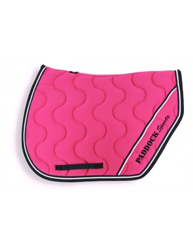 Sport Saddle Pad - Fuchsia / Navy / White piping/ Navy piping