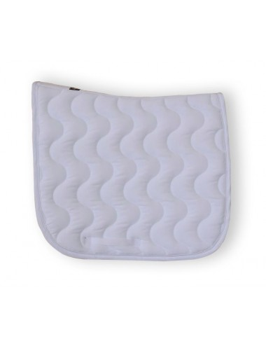 Dressage saddle Pad - White/ White/ White piping